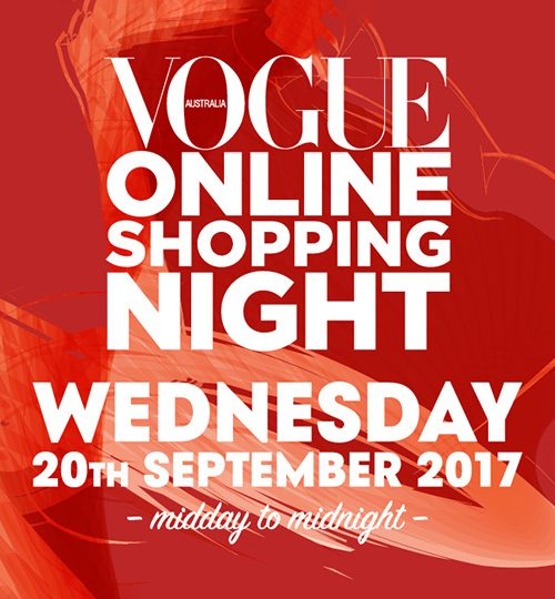 VOGUE online shopping night is back! 30% OFF Storewide