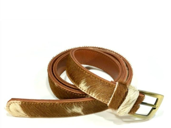 Say hi to Marie, our new cowhide belt!